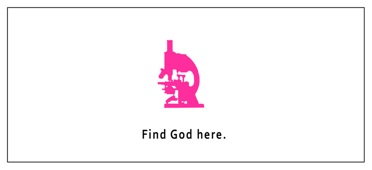 Find God here ad